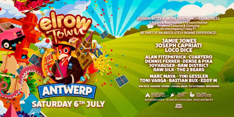 Year number two for Elrow Town Antwerp reveals lineup! -Clubbingtv.com