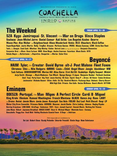 No-Fail Coachella Lineup Music festival -Clubbingtv.com