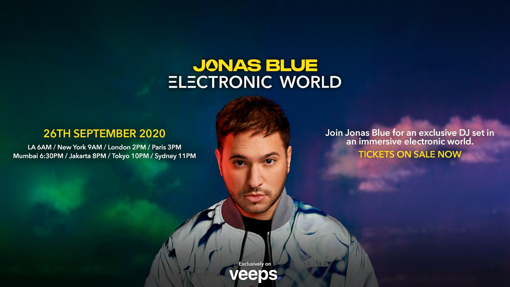 'Electronic World' livestream by Jonas Blue exclusively on Veeps