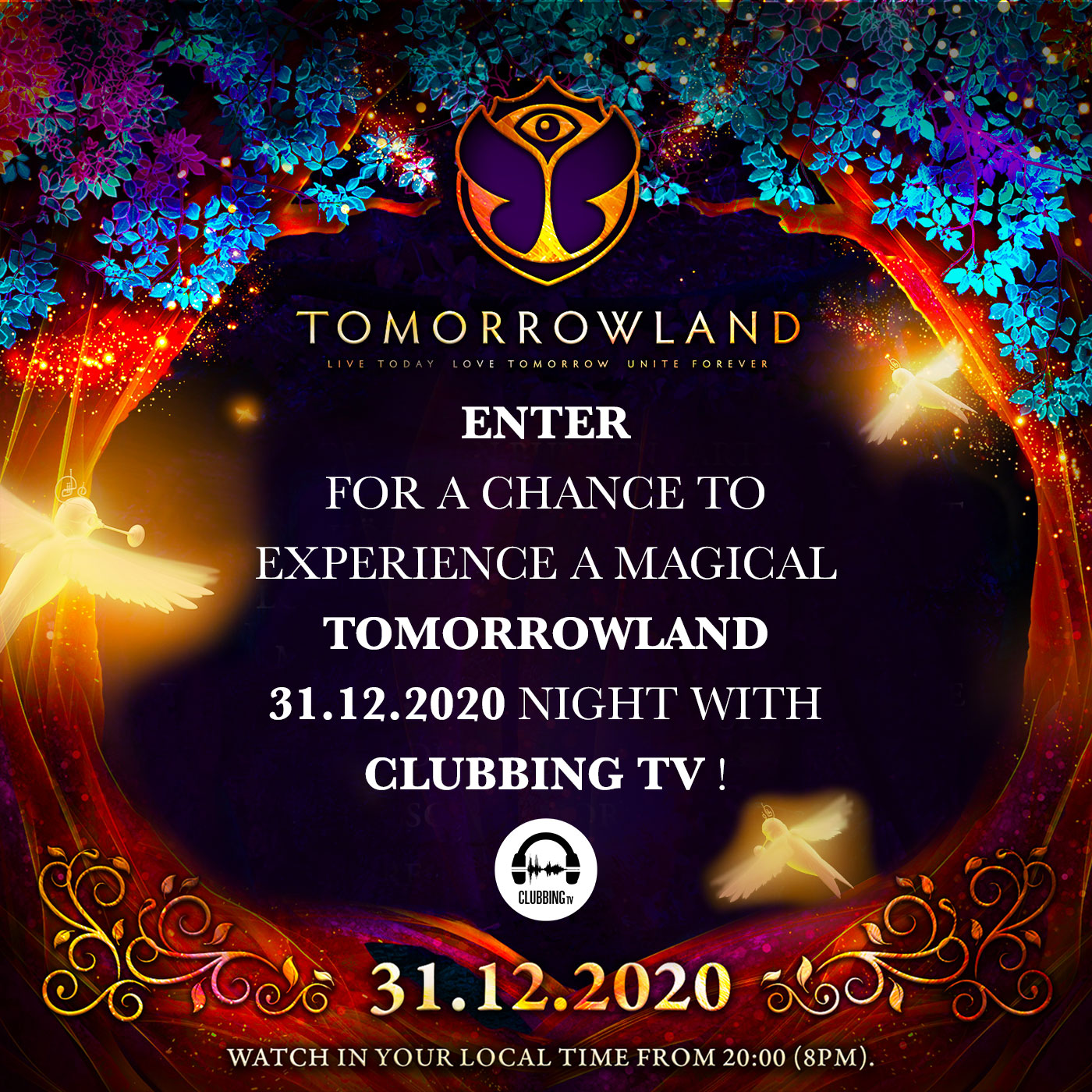 Get a chance to experience a magical TOMORROWLAND night with Clubbing TV!