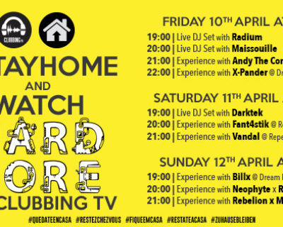#StayHome and watch Hard Core Clubbing TV