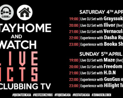 #StayHome and watch Live Acts on Clubbing TV