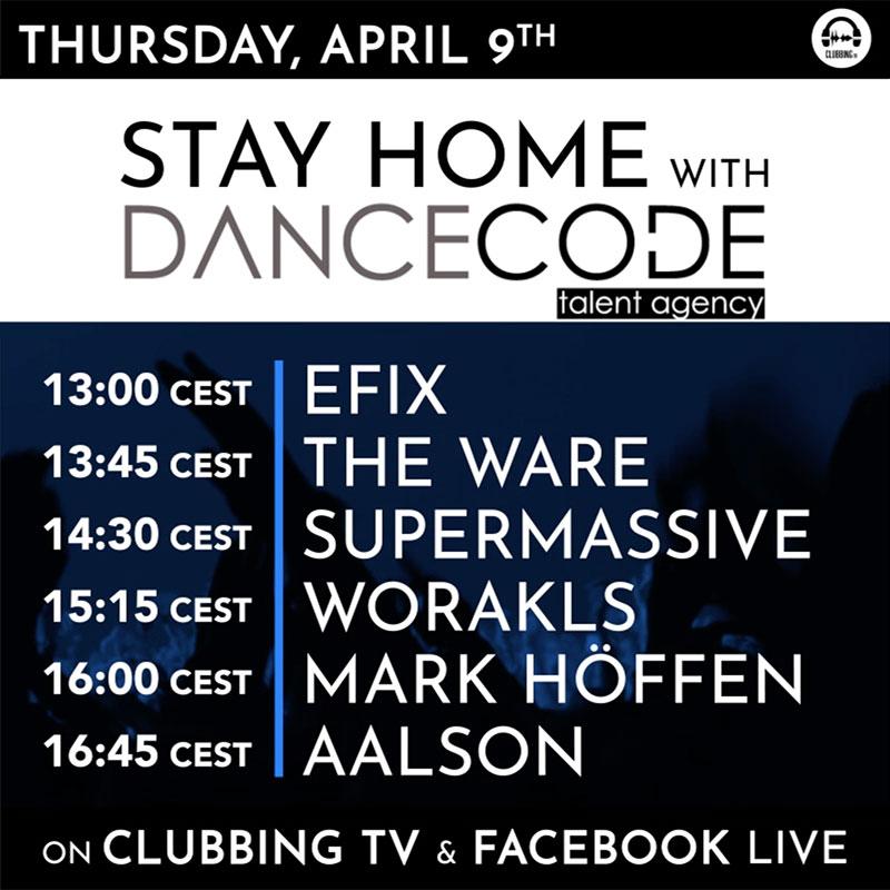 Today's special show with Dancecode -Clubbingtv.com