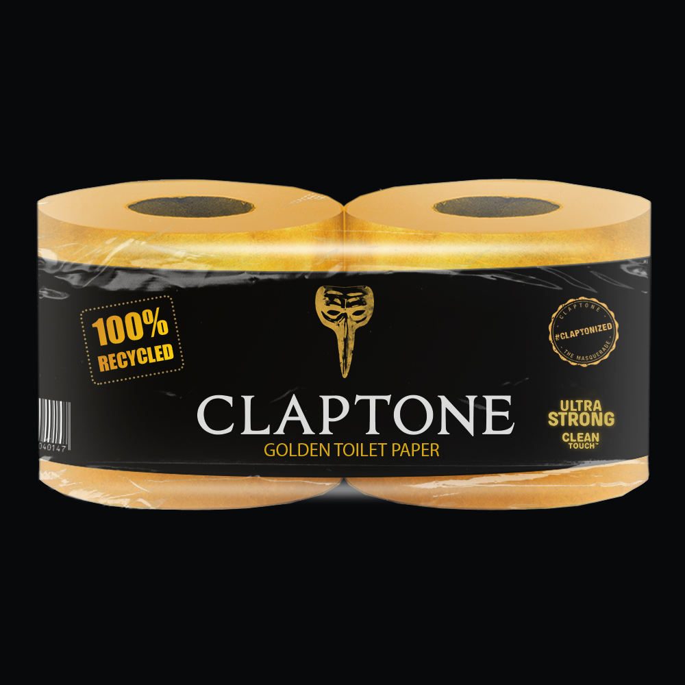 Claptone launches limited edition golden toilet paper -Clubbingtv.com