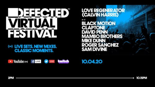 "The Defected Virtual Festival 3.0, with at its head Calvin Harris, as ""Love Regenerator""."