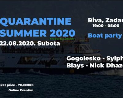 Quarantine summer Zadar Croatia BOAT PARTY