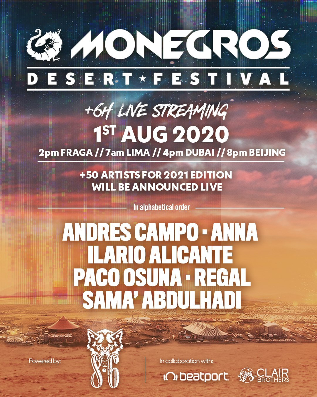 Monegros Festival will be virtual this year