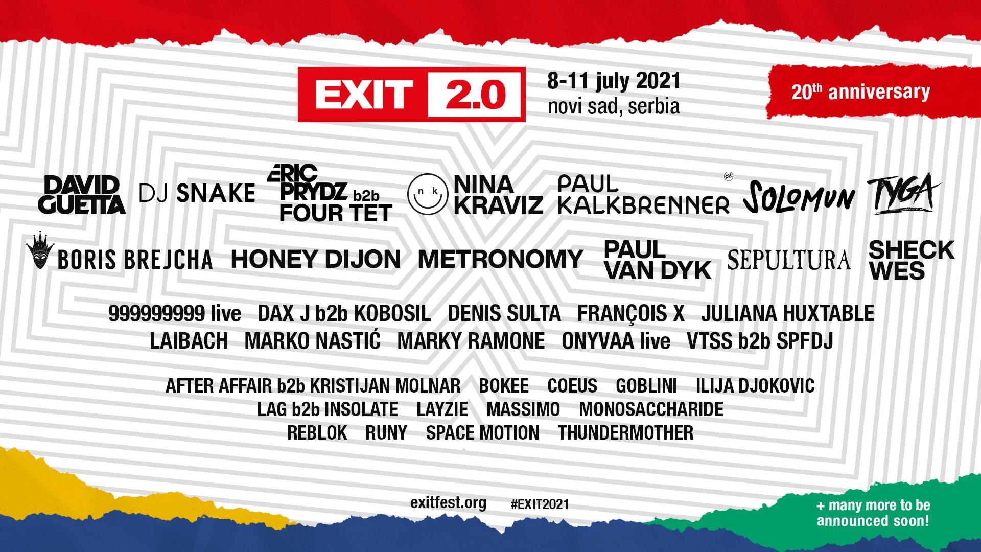 EXIT Festival' will come back in 2021!
