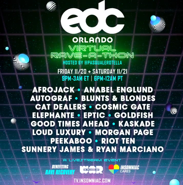The Electric Daisy Carnival in Orlando will be a Virtual Rave-A-Thon!