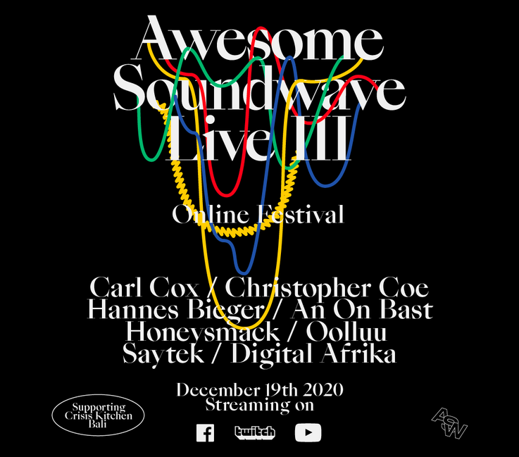 Awesome Soundwave presents their 3rd charity online live festival !